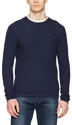 Tommy Jeans Men's Essential Sweater Short Sleeve Jumper,Large