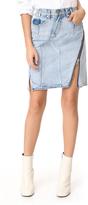 3.1 Phillip Lim Denim Asymmetrical Skirt with Zipper