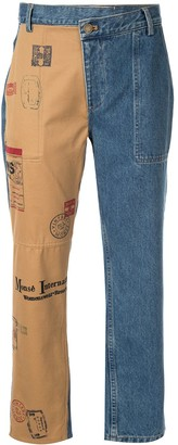 Monse split two-tone jeans