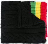 Palm Angels striped edges scarf - men - Wool/Polyamide - One Size