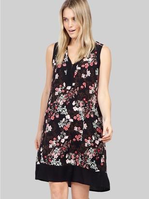 M&Co Izabel collarless floral shift dress
