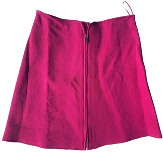 Courreges Pink Cotton Skirt for Women