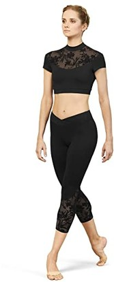 Bloch 7/8 Leggings (Black) Women's Casual Pants