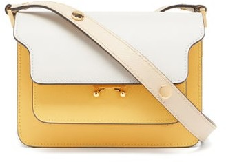 Marni Trunk Mini Leather Shoulder Bag - Yellow Multi