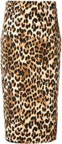 Alberto Biani leopard print fitted skirt