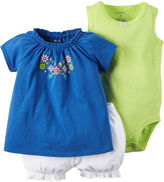 Carter's 3-pc. Bodysuit and Shorts Set - Baby Girls newborn-24m