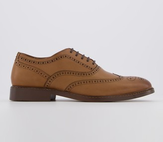 Office Mean Brogue Tan Leather