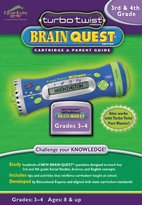 Leapfrog Turbo Twist Brain Quest Cartridge and Parent Guide - 3rd and 4th Grade