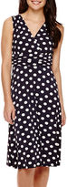 Ronni Nicole Sleeveless Polka Dot Printed A-Line Dress