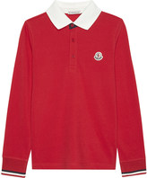 Moncler Coloured cotton polo shirt 4-14 years
