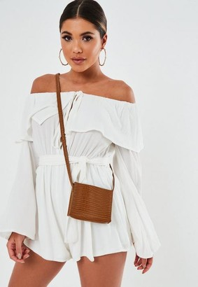 Missguided Camel Faux Leather Cross Body Mini Bag