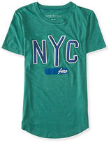 Aeropostale Womens Embroidered Nyc Graphic T Shirt