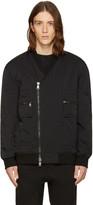 Helmut Lang Black Crossover Bomber Jacket