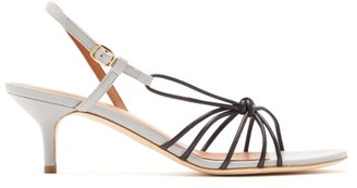 Malone Souliers Antwerp Knotted Leather Slingback Sandals - Womens - Black Grey