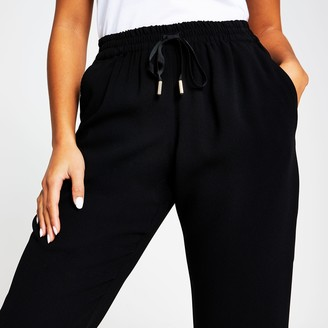 River Island Womens Petite Black tailored jogger