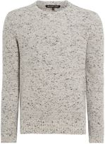 Michael Kors Donegal Ribbed Knitted Crew Neck Jumper