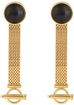 Balenciaga Mesh-chain drop earrings