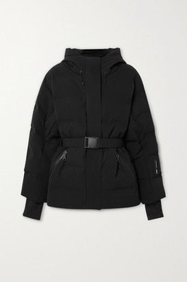 Ienki Ienki Sheena Hooded Belted Quilted Down Ski Jacket - Black