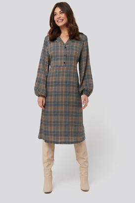 NA-KD Checked Shirt Dress Multicolor