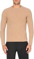 Joseph Crewneck ribbed-knit cashmere jumper