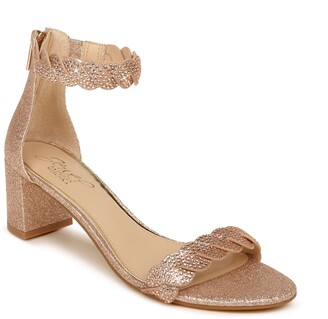 Badgley Mischka Finna Embellished Ankle Strap Sandal