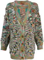 Missoni oversized frayed cardigan