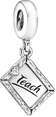 Pandora Passions Chalkboard Teach with Love Heart Charm (Clear) Charms Bracelet