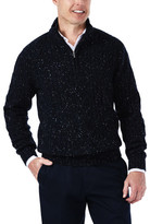 Haggar 1/4 Zip Mock Neck Cable Knit Sweater
