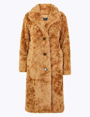 Marks and Spencer Faux Fur Boyfriend Teddy Coat