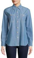 Lauren Ralph Lauren Long-Sleeve Denim Button-Down Shirt