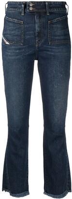 Diesel D-Earlie mid-rise flared jeans