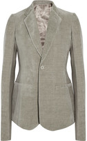 Rick Owens Cotton And Linen-blend Blazer - Gray