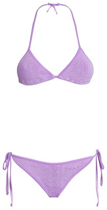 Hunza G Seersucker Carmen Triangle Bikini