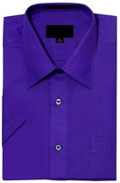 G-Style USA Men's Regular Fit Short Sleeve Solid Color Dress Shirts - 3XL/19-19.5
