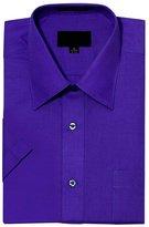 G-Style USA Men's Regular Fit Short Sleeve Solid Color Dress Shirts - XL/17-17.5