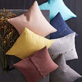 west elm Silk Hand-Loomed Pillow Cover - Currant