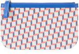 Pierre Hardy zipped purse - women - Calf Leather/Canvas - One Size