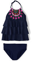 Classic Little Girls Tiered Tankini Swimsuit Set-Kaleidoscope