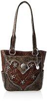 American West Desert Wildflower Zip Top With Pockets Shoulder Bag