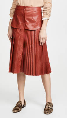 Cédric Charlier Eco Faux Leather Skirt