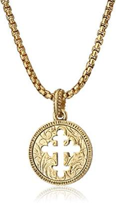 Symbols of Faith 14k Gold-Dipped Coin Cross Pendant Necklace