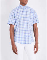 Boss Checked Regular-fit Cotton Shirt