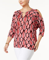 MICHAEL Michael Kors Size Cold-Shoulder Top, a Macy's Exclusive Style
