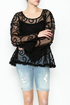 POL Sheer Paisley Top