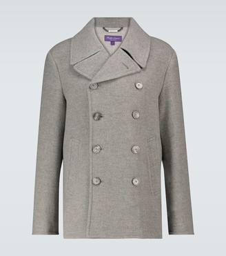 Ralph Lauren Purple Label Double-breasted wool peacoat