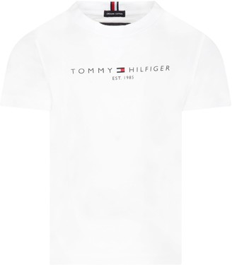 Tommy Hilfiger White T-shirt For Kids With Logo