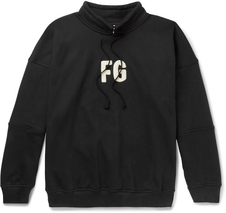Fear Of God Oversized Logo-Appliqued Loopback Cotton-Blend Jersey Sweatshirt