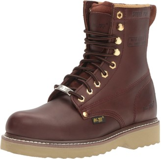 "AdTec Men's 1312 8"" Steel Toe Farm Boots Redwood Work 7.5 M US"