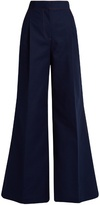 MSGM Contrast-stitch wide leg trousers