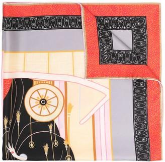 "Lanvin ""Erte theater"" print silk square scarf"